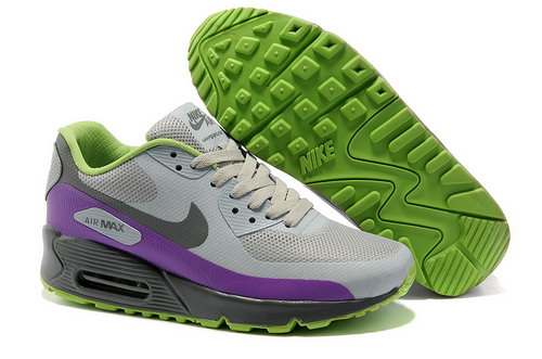 Nike Air Max 90 Hyp Frm Women Gray Purple Running Shoes Portugal