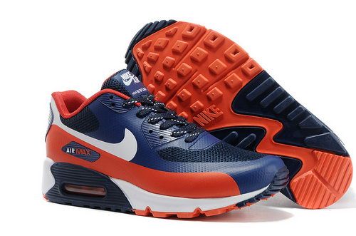 Nike Air Max 90 Hyp Prm Men Blue Red Running Shoes Cheap