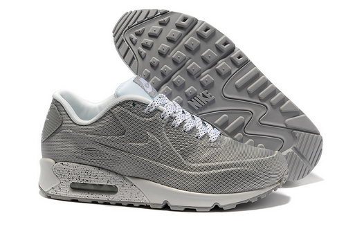 Nike Air Max 90 Hyp Prm Men Gray White Running Shoes Discount Code
