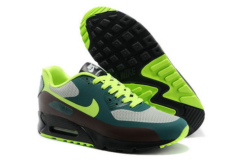 Nike Air Max 90 Hyp Prm Men Green Gray Running Shoes Discount