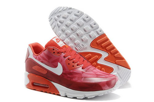 Nike Air Max 90 Hyp Prm Unisex All Red Jogging Shoes Factory