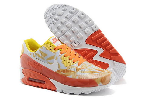 Nike Air Max 90 Hyp Prm Unisex Orange Red Jogging Shoes Canada