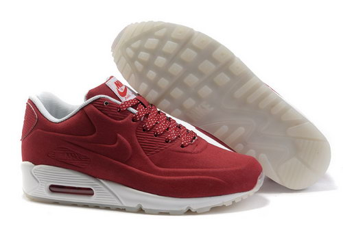 Nike Air Max 90 Hyp Prm Unisex Red White Running Shoes Closeout