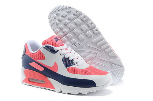Nike Air Max 90 Hyp Prm Women Pink White Running Shoes Low Cost
