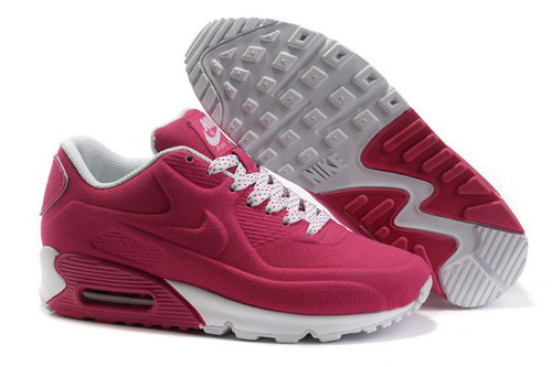 Nike Air Max 90 Hyp Prm Women Red White Running Shoes Cheap