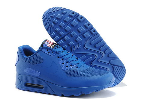 Nike Air Max 90 Hyp Qs Men All Blue Running Shoes Coupon Code