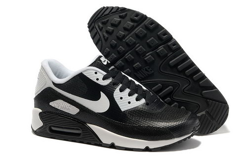 Nike Air Max 90 Hyperfuse Men Black White Running Shoes Czech