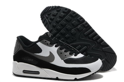 Nike Air Max 90 Hyperfuse Men White Black Running Shoes Best Price