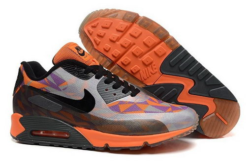 Nike Air Max 90 Hyperfuse Prm 2014 25 Anniversary Mens Shoes Gray Black Orange Outlet