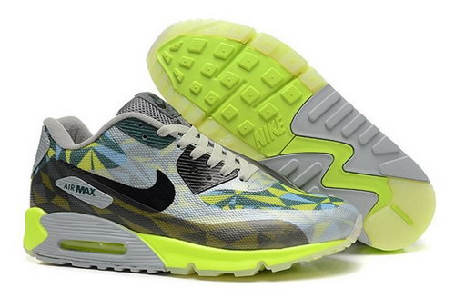 Nike Air Max 90 Hyperfuse Prm 2014 25 Anniversary Mens Shoes Green Gray Black Denmark