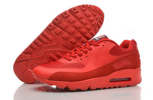 Nike Air Max 90 Hyperfuse Qs Mens Shoes Fur Red All Hot On Sale China