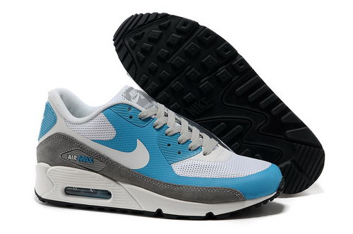 Nike Air Max 90 Hyperfuse Unisex Blue Gray Running Shoes Outlet Online