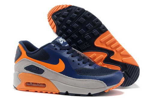 Nike Air Max 90 Hyperfuse Unisex Blue Orange Running Shoes China