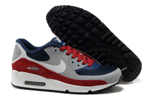 Nike Air Max 90 Hyperfuse Unisex Gray Red Running Shoes Online