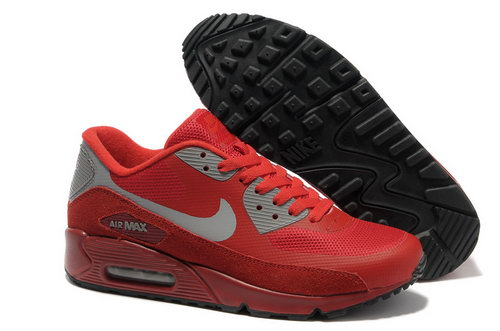 Nike Air Max 90 Hyperfuse Unisex Red Gray Running Shoes Online
