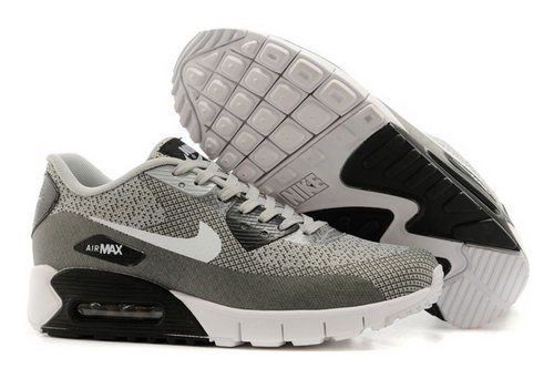 Nike Air Max 90 Jacquard Mens Gray White Black Hot Canada