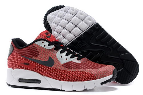 Nike Air Max 90 Jacquard Mens Shoes Red Black White New Portugal