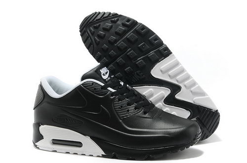 Nike Air Max 90 Men Black And White Running Shoes On Sale