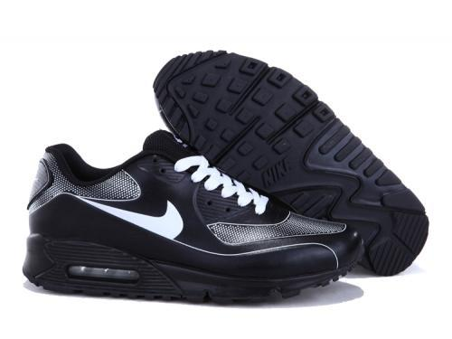 Nike Air Max 90 Men Black Gray Running Shoes Reduced