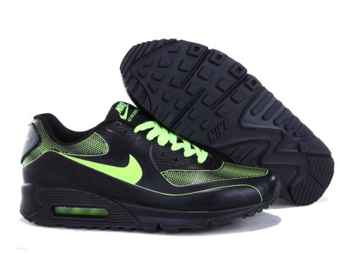 Nike Air Max 90 Men Black Green Running Shoes Online
