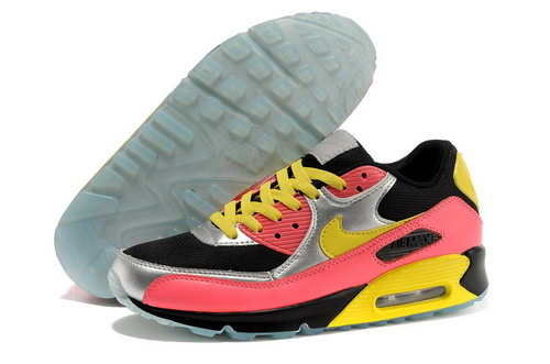 Nike Air Max 90 Men Black Yellow Running Shoes France