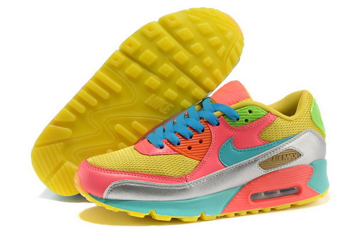 Nike Air Max 90 Men Yellow Blue Running Shoes Germany