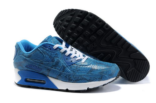 Nike Air Max 90 Mens Black Blue White Factory Outlet