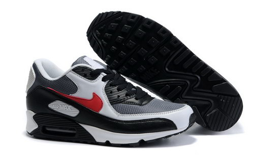 Nike Air Max 90 Mens Red Grey Black Outlet Store
