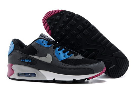 Nike Air Max 90 Mens Shoes Black Silver Blue New Netherlands