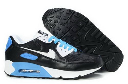 Nike Air Max 90 Mens Shoes Black White Photo Blue Discount Code