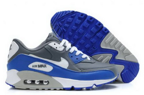 Nike Air Max 90 Mens Shoes Cool Grey Royal White Greece