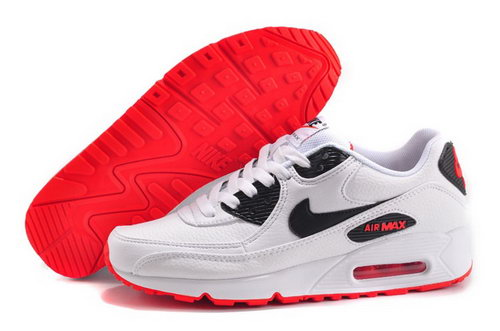 Nike Air Max 90 Mens Shoes Hot White Black Red New Poland