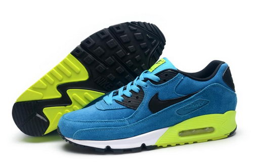 Nike Air Max 90 Mens Shoes Hot On Sale Blue Black Green Factory