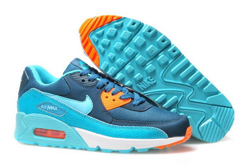 Nike Air Max 90 Mens Shoes Hot On Sale Blue Ky Blue Orange Low Price