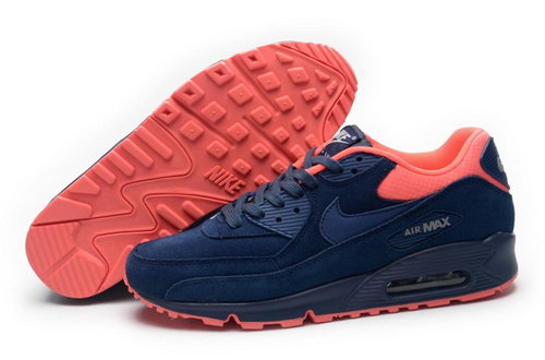 Nike Air Max 90 Mens Shoes Hot On Sale Dark Blue Pink Italy