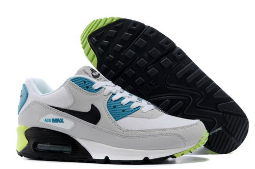 Nike Air Max 90 Mens Shoes Light Gray Green Black Sale