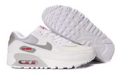 Nike Air Max 90 Mens Shoes White Grey Discount Code