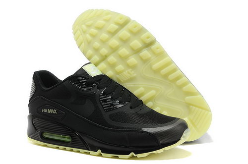 Nike Air Max 90 Prem Tape Unisex All Black Running Shoes Closeout