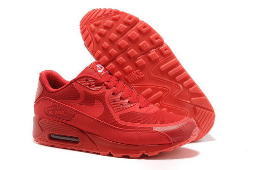 Nike Air Max 90 Prem Tape Unisex All Red Running Shoes Low Cost