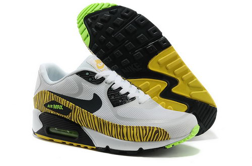 Nike Air Max 90 Prem Tape Unisex White Yellow Running Shoes Discount Code