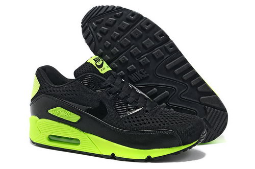 Nike Air Max 90 Premium Em Men Black Green Running Shoes Outlet Store