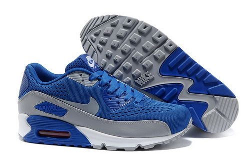 Nike Air Max 90 Premium Em Unisex Blue Gray Running Shoes Denmark