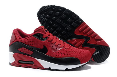 Nike Air Max 90 Premium Em Unisex Red Black Running Shoes Ireland