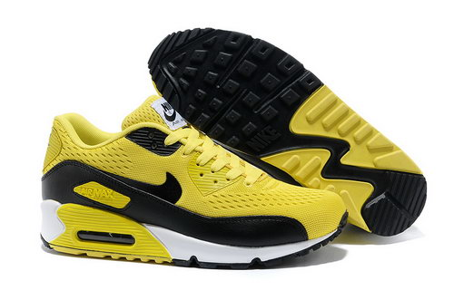 Nike Air Max 90 Premium Em Unisex Yellow Black Running Shoes Outlet