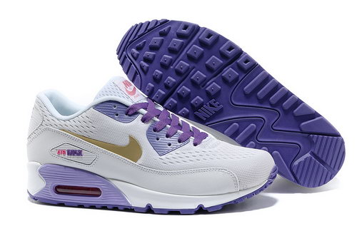 Nike Air Max 90 Premium Em Women Purple White Running Shoes France