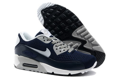 Nike Air Max 90 Prm Em Men Dark Blue And Gray Sports Shoes