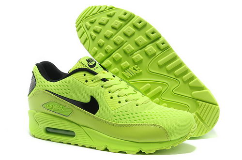 Nike Air Max 90 Prm Em Unisex Green And Black Sports Shoes Inexpensive