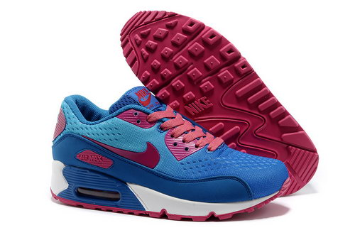 Nike Air Max 90 Prm Em Women Blue And Pink Sports Shoes Poland