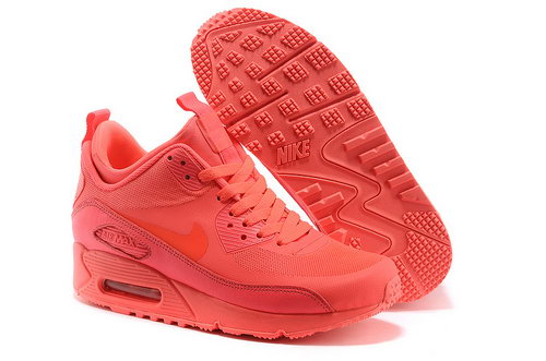 Nike Air Max 90 Sneakerboot Ns Women All Pink Running Sports Shoes Taiwan