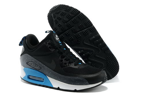 Nike Air Max 90 Sneakerboot Ns Women Black Blue Running Sports Shoes Norway